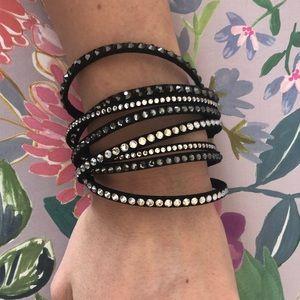 Swarovski Slake Crystal Wrap Bracelet Black
